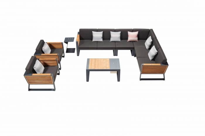 Babmar - AVANT SECTIONAL SOFA SET WITH 2 CLUB CHAIRS - Image 1