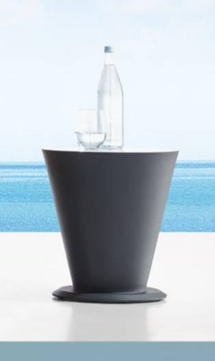 Babmar - AVANT ROUND SIDE TABLE WITH COOLER - Image 1