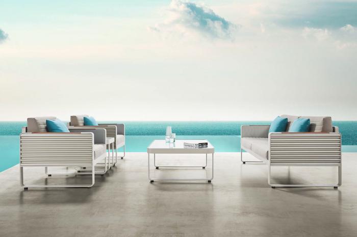 Babmar - Chrome Sofa Set - Image 1