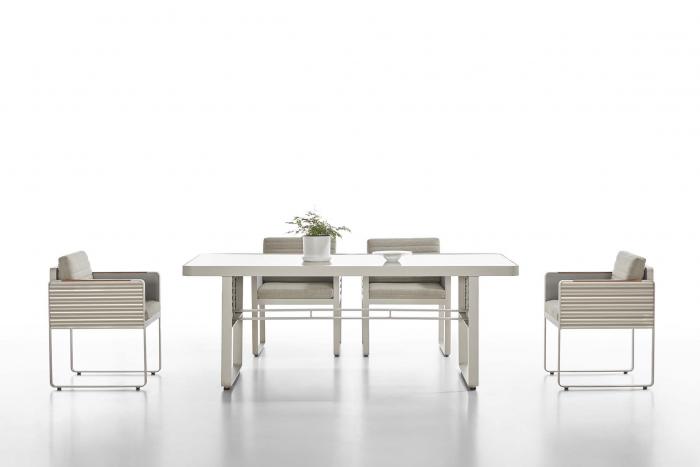 Babmar - Chrome Dining Set For 6 - Image 1
