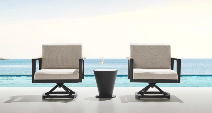 Babmar - Onyx Swivel Club Chair Set For 2 - Image 1