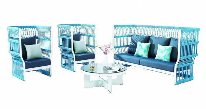 Babmar - Seattle High Back Sofa Set - Image 1