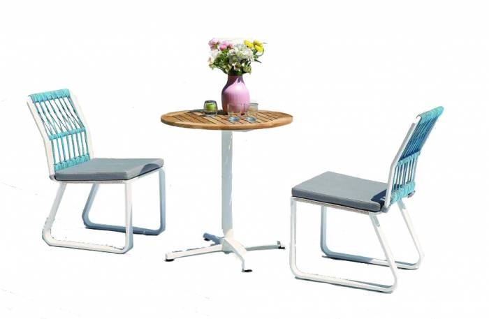 Seattle Dining Set For Two With Armless Chairs - Image 1
