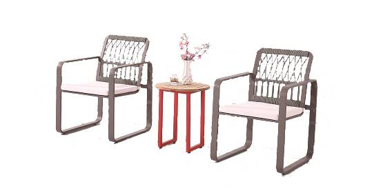 Seattle Chair With Rounded Arms Set For Two - Image 1