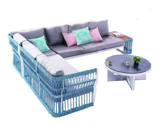 Seattle Sectional Set With Built-In Side Table - Image 1