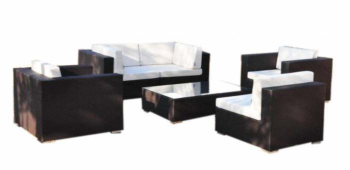 Babmar - Swing 46 Modular Sectional Sofa Set for 5 with 2 club chairs - Image 1