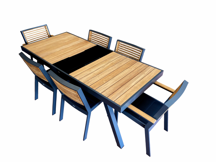 Babmar - Avant Dining Set For 6 with Storage - Image 1