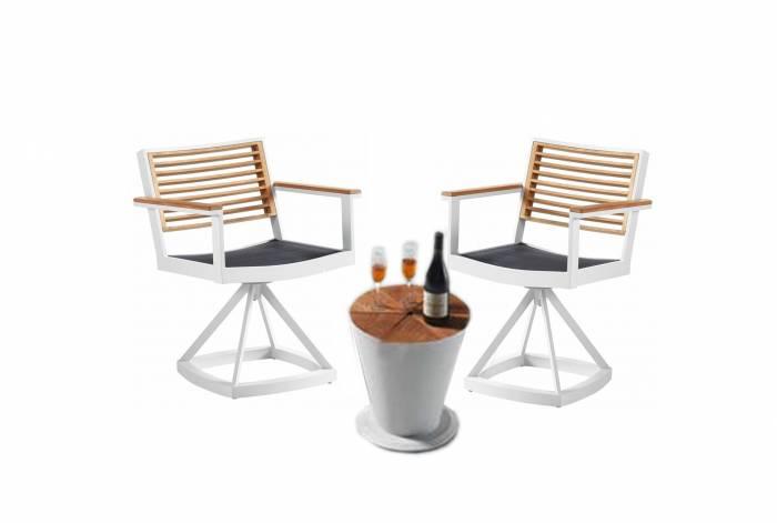 Babmar - Avant Swivel Chair Set For 2 -QUICK SHIP - Image 1