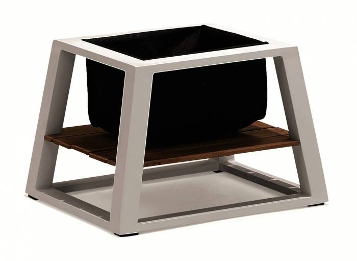 Mykonos Side Table With Basket - QUICK SHIP - Image 1