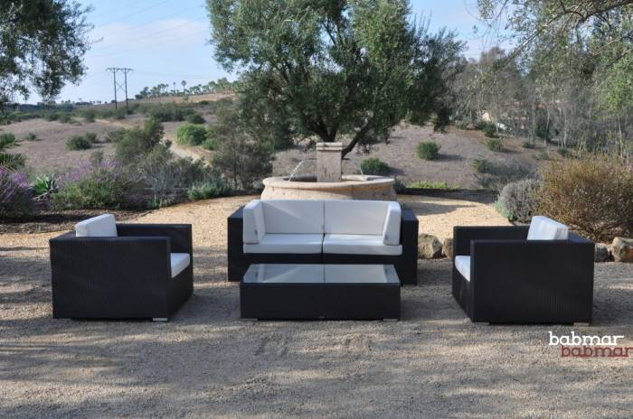 Babmar - Swing 46 Modular Loveseat Set with 2 club chairs - Image 1