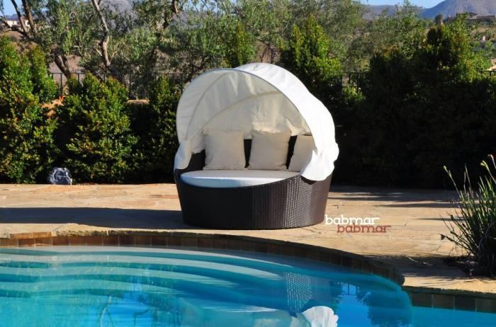 Babmar - Iridium Modern Round Daybed With Canopy