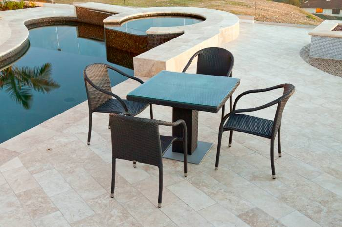 Luna Dining Set For Four With Bistro Table