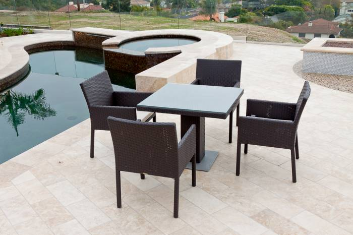 Bella Dining Set For Four With Bistro Table