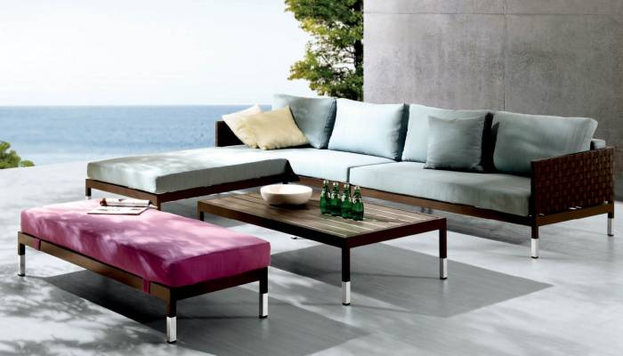 Taco Sofa Set With 2 Armless Chaise Benches - Image 1