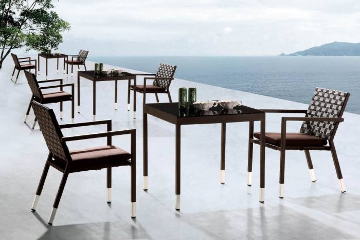 Sardinia Dining Set For 2 With Square Table