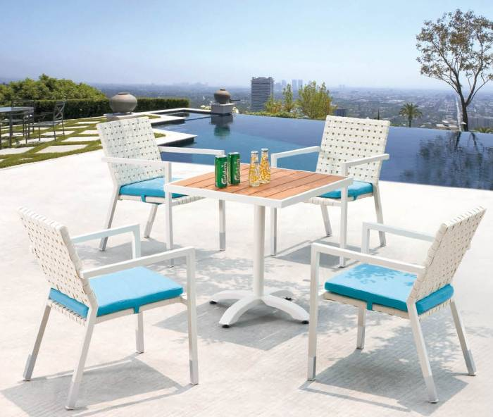 Sardinia Dining Set For 4 With Bistro Table