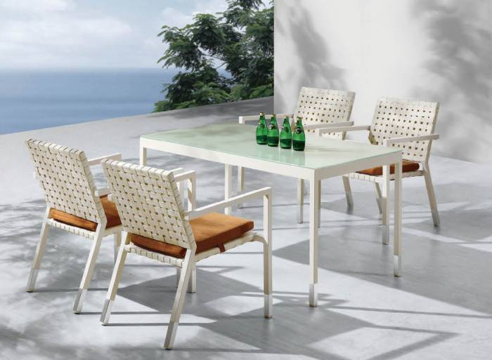 Sardinia Dining Set For 4 With Rectangular Table