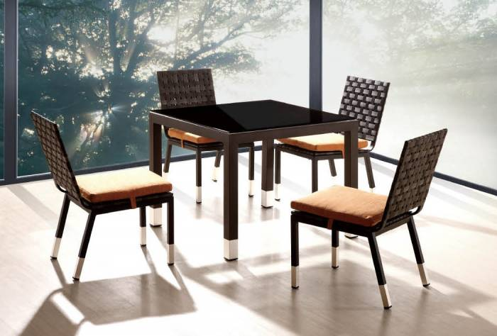 Taco Dining Set For 4 With Square Table - Image 1