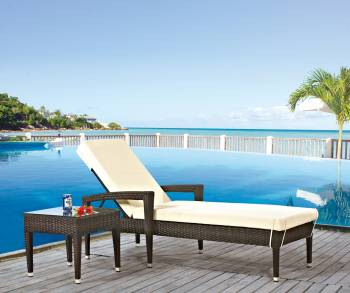 Outdoor Furniture Sets - Outdoor Chaise Lounges - Babmar - Santiago Outdoor Chaise Lounge