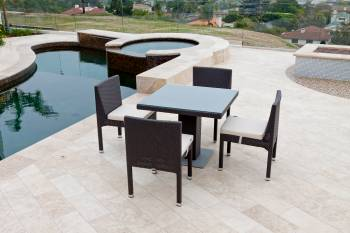 Outdoor Furniture Sets - Outdoor  Dining Sets - Vita Armless Dining Set For Four with Bistro Table