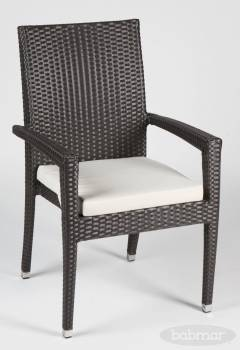 Individual Pieces - Dining Chairs - Babmar - Santiago Dining Chair With Arms