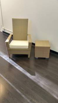 NEW! Clearance Items - Babmar - Martano Chair with Side Table