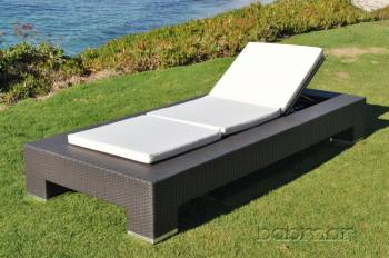 Outdoor Furniture Sets - Outdoor Chaise Lounges - Babmar - Venzano Single Chaise Lounge