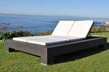 Outdoor Furniture Sets And Quick Ship Items - Outdoor Sofa & Seating Sets - Babmar - Venzano Double Chaise Lounge