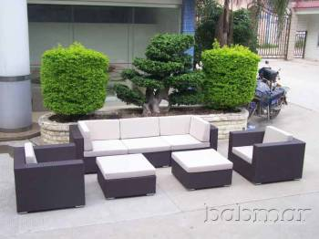 Outdoor Furniture Sets And Quick Ship Items - Outdoor Sofa & Seating Sets - Babmar - Delfina 5 Seater Sofa Set (Swing 46 Design)