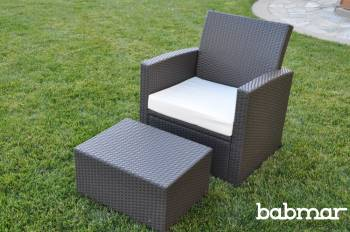 Babmar - Palomino Club Chair With Ottoman - Image 3