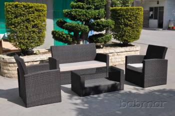 Outdoor Furniture Sets - Babmar - Palomino Loveseat Sofa Set with two club chairs