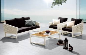 Outdoor Sofa & Seating Sets - Outdoor Seating Sets For 5 - Cali Sofa Set