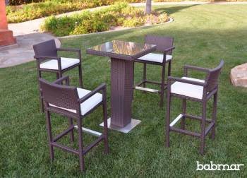 Outdoor Furniture Sets - Outdoor Bar Sets - Babmar - Florio Bar Set With Arms