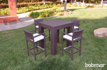 Outdoor Furniture Sets - Babmar - Corretto Bar Set With Arms