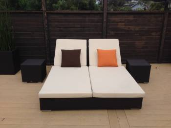 Outdoor Furniture Sets - Outdoor Daybeds - Babmar - Mandarin Double Chaise Lounge