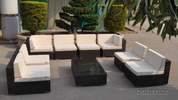Outdoor Furniture Sets And Quick Ship Items - Outdoor Sofa & Seating Sets - Babmar - Swing 46 U Shaped Sectional