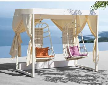 Outdoor Furniture Sets - Outdoor Daybeds - Fatsia Double Swing