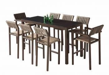 Outdoor Furniture Sets - Outdoor Bar Sets - Amber Bar Set for 8