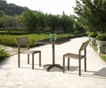 Outdoor  Dining Sets - Outdoor Dining Sets For 2 - Amber Armless Dining Set for 2