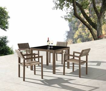 Package Deals - Outdoor  Dining Sets - Amber Dining Set For 4 with Arms