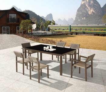 Outdoor Furniture Sets - Outdoor  Dining Sets - Amber Dining Set For 6
