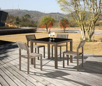 Outdoor Furniture Sets - Outdoor  Dining Sets - Amber Dining Set For 4 without Arms