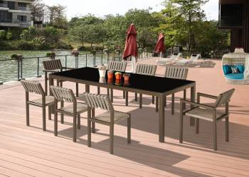 Outdoor Furniture Sets - Outdoor  Dining Sets - Amber Dining Set For 8
