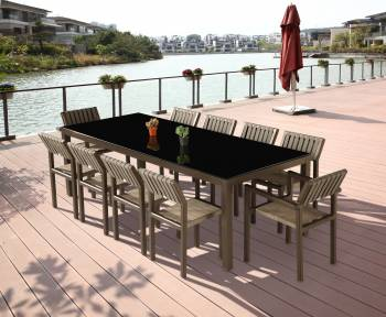 Outdoor Furniture Sets - Outdoor  Dining Sets - Amber Dining Set For 10
