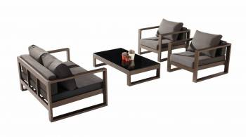 Outdoor Furniture Sets - Amber Sofa And Sectional Seating - Amber Loveseat Sofa Set