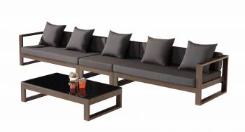 Shop by Category  - Outdoor Seating Sets - Amber 5 Seater Sectional Sofa Set