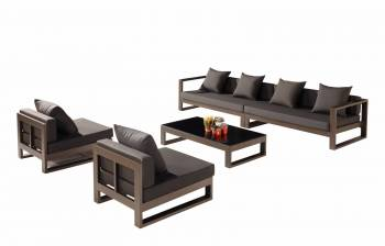 Outdoor Furniture Sets - Outdoor Sofa & Seating Sets - Amber 6 Seater Set