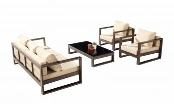 Shop by Category  - Outdoor Seating Sets - Amber Sofa Set for 5 with 2 Club Chairs