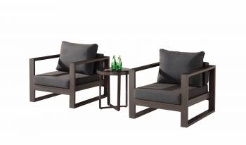 Outdoor Furniture Sets - Outdoor Sofa & Seating Sets - Amber Club Chair Set for 2 and Side Table