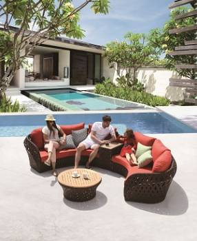 Outdoor Furniture Sets - Outdoor Sofa & Seating Sets - Verona Sofa Set With Middle Table